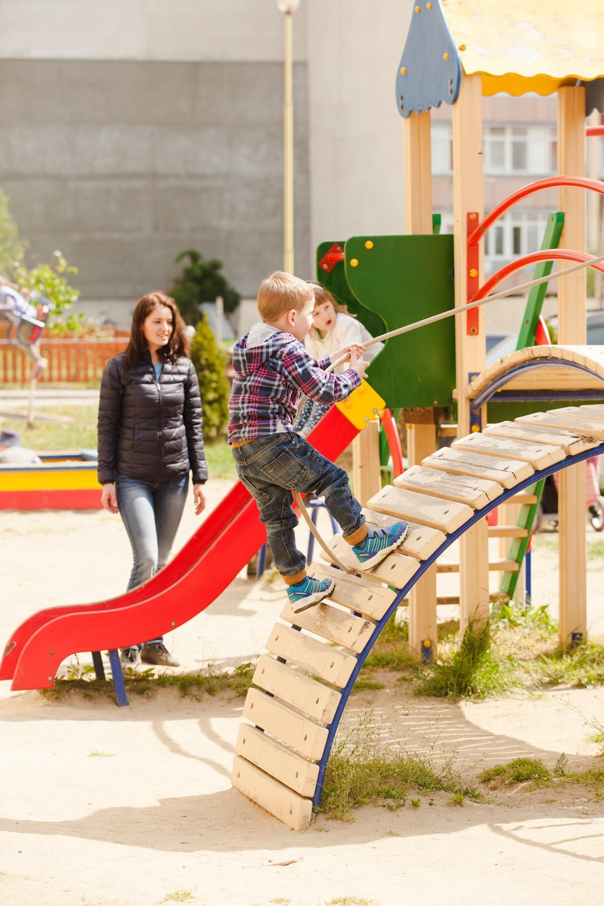 Franklin TN Preschool Kids on playground